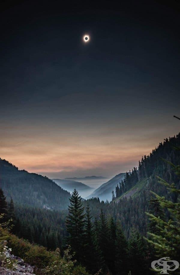 Орегон по време на слънчево затъмнение.