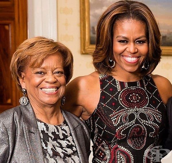 Мишел Обама. Майка й Мариан Робинсън присъства активно в живота на бившата президентска двойка Обама. Тя е живяла с дъщеря си и зет в Белия дом и се е грижила за внуците си. След края на втория мандат Барак Обама се премества с тях в семейното имение.