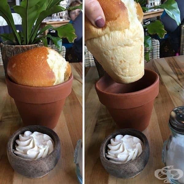 Хляб в саксия.