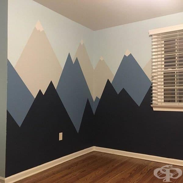 Планини. Усещането, че си в планината може да се пресъздаде чрез апликации по стените.