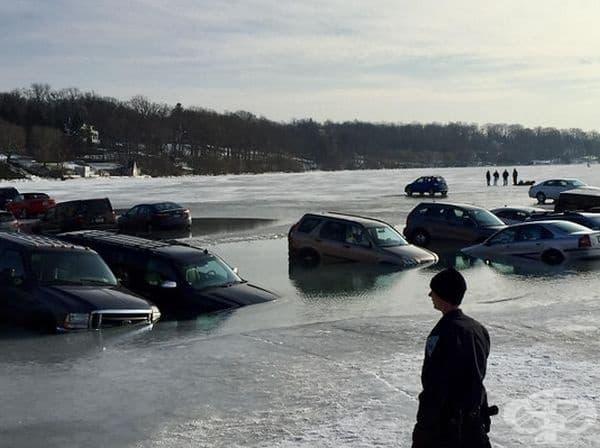 Паркинг на леда.