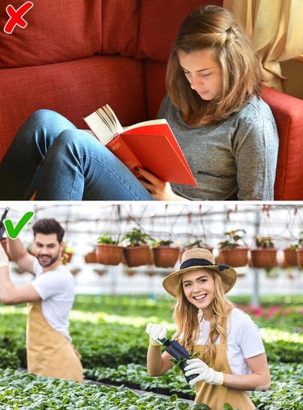 Градинарство. Грижата за градината намалява нивото на кортизола. Холандски учени утвърждават, че работата сред природата подобрява настроението и физическото здраве.