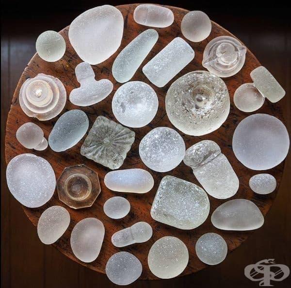 Страхотна колекция от морски стъкла