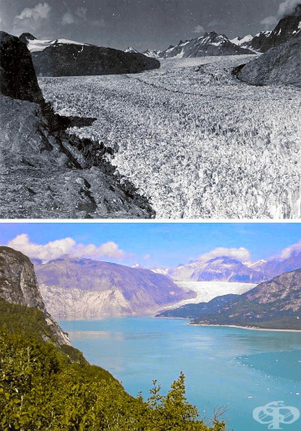 Целият този ледник се е превърнал във вода.