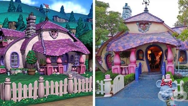 Къщата на Мини Маус. Намира се в Дисниленд, както във Флорида, така и във Калифорния. И, въпреки че домът е анимационен, той е оборудван с всичко необходимо като всяка истинска къща.