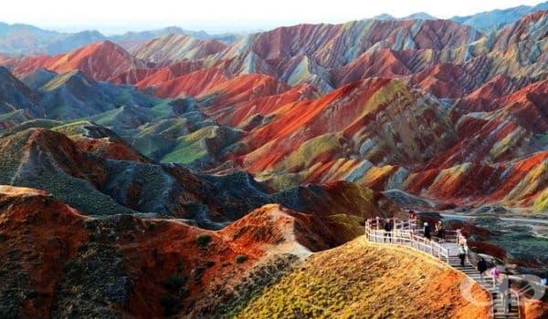 Национален Геопарк Zhangye Danxia, Китай.