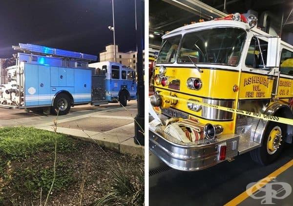 Пожарните автомобили не винаги са червени.