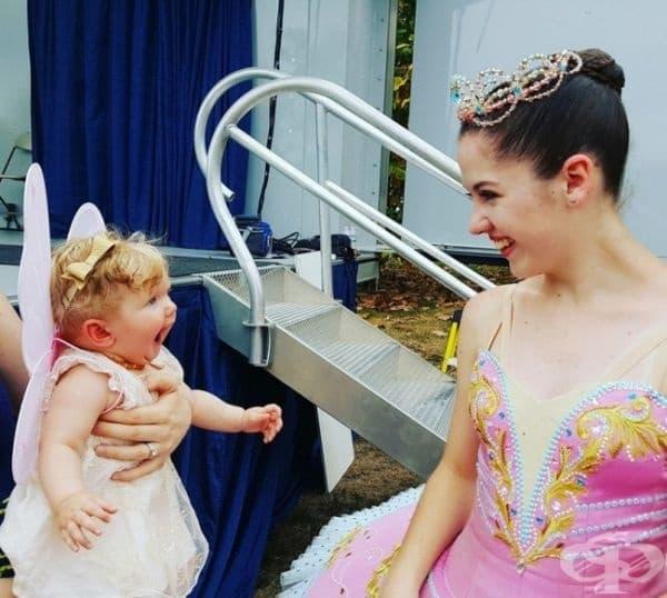 Не всеки ден може да се срещнете с балерини.