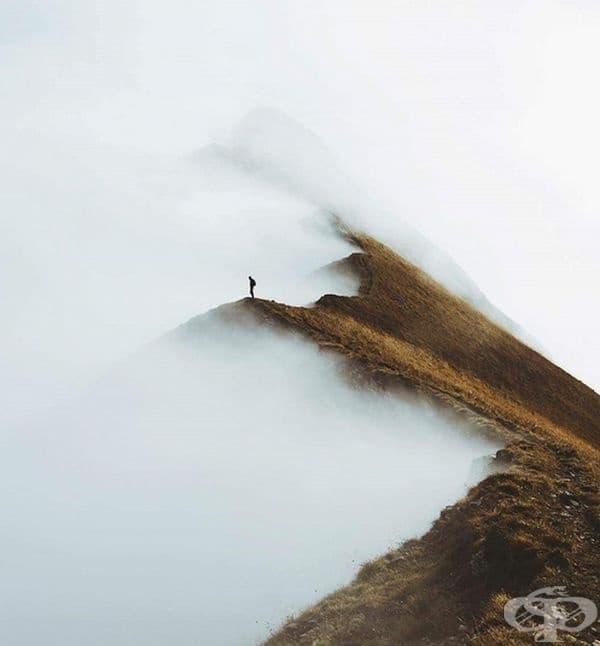 В мъглата, Швейцария.