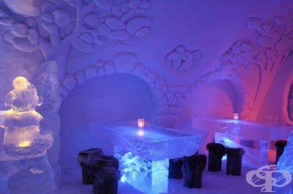 Леден ресторант във Финландия.