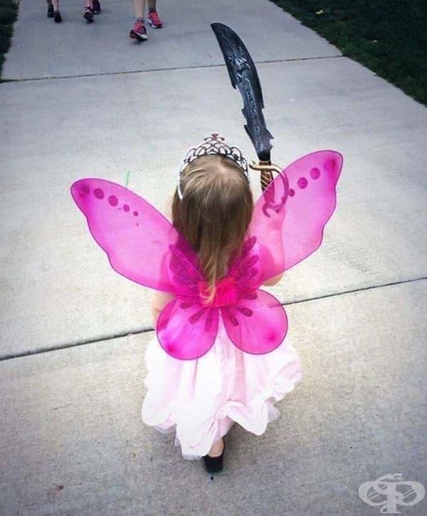 """""""Личността на дъщеря ми се изразява идеално чрез нейния избор на костюм."""""""