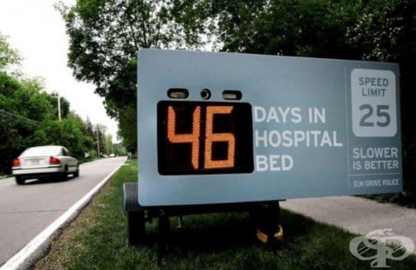 Шофирайте по-бавно! (Агенция: Cramer-Krasselt, Милуоки, САЩ). 46 дни в болницата.