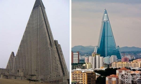 Хотел Ryugye, Пхенян, Северна Корея. Строителство: 1987-1992 го
