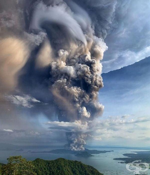 От научна гледна точка положението изглежда по-различно. Вулканът Таал е разположен на големия остров Лусон и изригва на 12. 01.2020 година, изпращайки пепел, пара и дим до 10 – 15 км в небето.