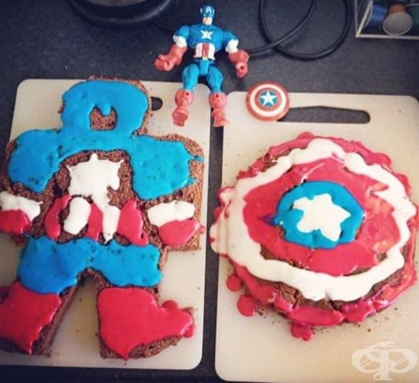 Капитан Америка или нещо подобно.