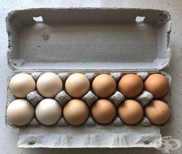 Яйца - от светло към тъмно.