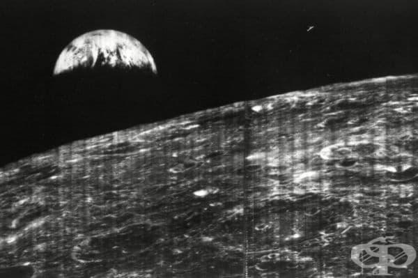 Първата снимка на Земята, направена от повърхността на Луната, 1966 г.