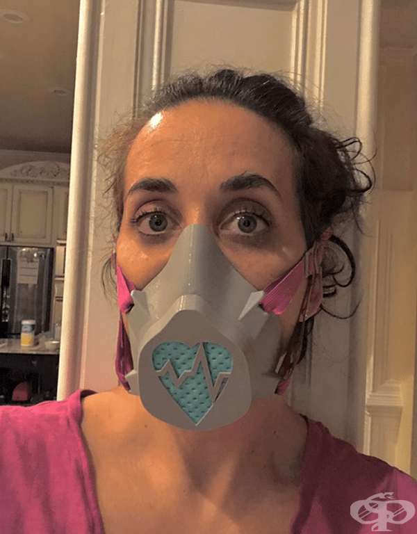 """""""Тази маска ми е подарък от моя мъж. Направена е на 3D принтер""""."""