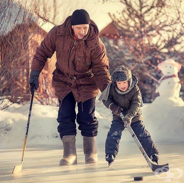 Малък хокеист. Русия.