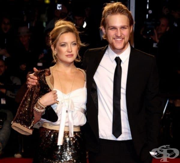 Кейт Хъдсън с брат си Уайът Ръсел.