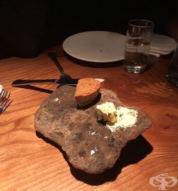 В Исландия те сервират хляб и масло на вулканичен камък.