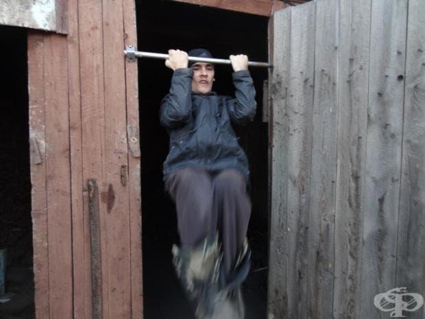 Редовните ми тренировки в хамбара.