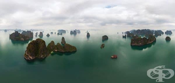 Заливът Халонг, Виетнам.