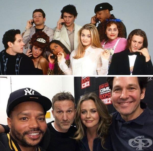 """""""Баровки"""", 1995 и 2019 г. През март 2019 г. актьорите от Clueless се събраха на изложението в Чикаго Comic & Entertainment Expo за първи път от 24 години. За съжаление, не всички членове на актьорския състав успяха да присъстват на събитието."""