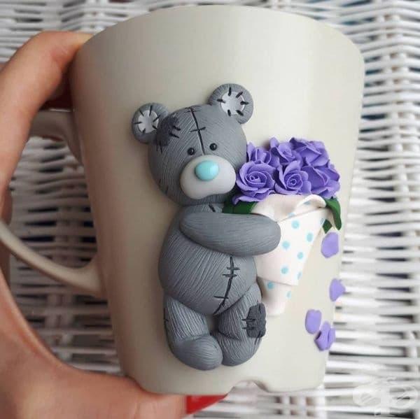 Нежни чаши с 3D декорация за любителите на кафе