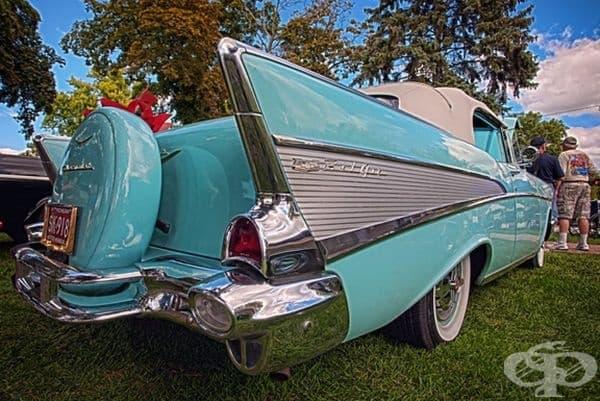1957 Chevrolet Bel Air кабриолет.