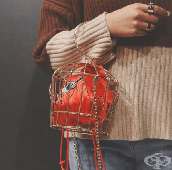 Чанта тип клетка.