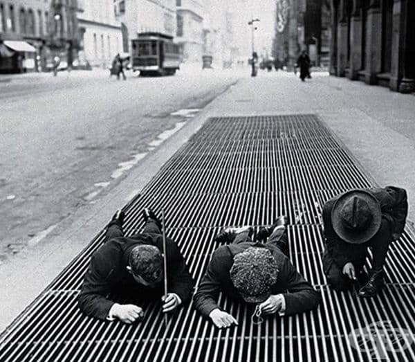 Три деца на риболов, Ню Йорк, 1930 г.