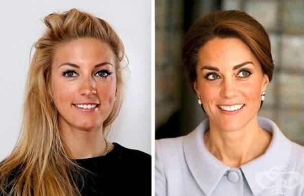 Полин Феран-Прево и Кейт Мидълтън. Много момичета искат да бъдат като принцеси от детството си. Френската състезателка по колоездене Паулин Феран-Прьово е щастлива в този смисъл, защото едва ли може да се отрече приликата си с херцогинята Кейт Мидълтън.
