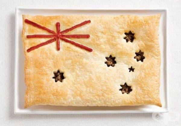 Австралия: пай с месо, сос