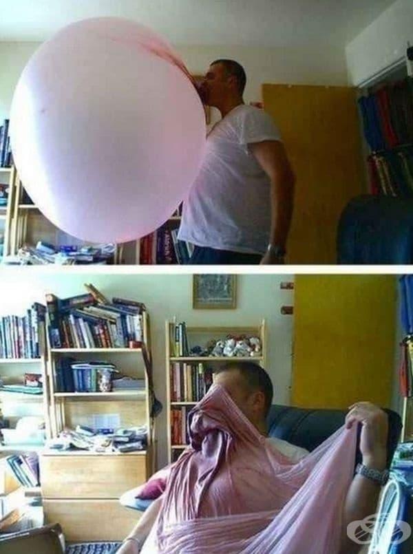 Голям балон - голямо одеяло.