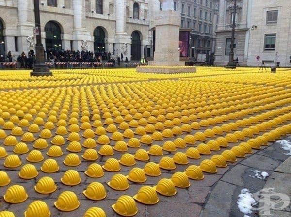 Протест на работници в Италия.