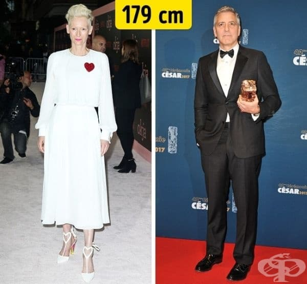 Тилда Суинтън и Джордж Клуни