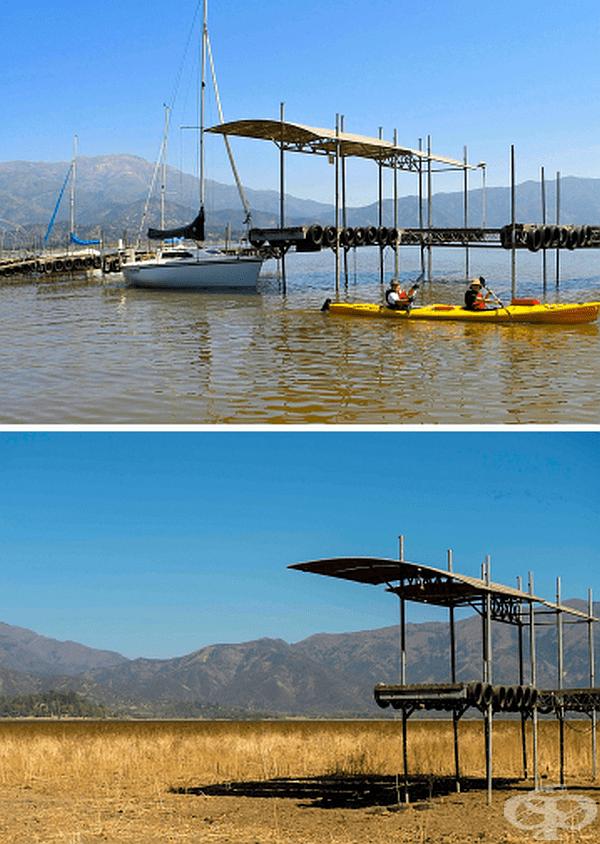 Само за 6 години чилийското езеро Акулео в Торес дел Пайне изчезва, сякаш никога не е съществувало.
