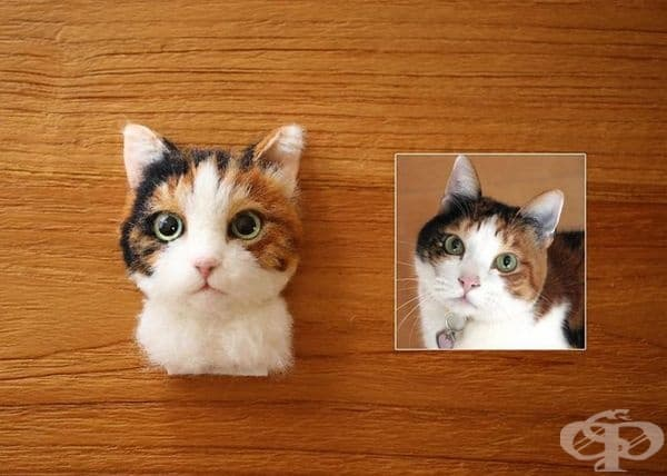 Японски художник впечатлява с 3D портрети на котки от вълна
