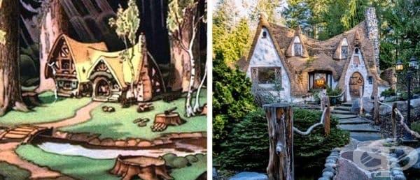 Къщата на Снежанка. Изграждана е в продължение на 30 г. Намира се във Вашингтон и впечатлява със своя дизайн и ръчна обработка на детайлите.