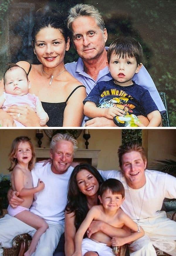 Катрин Зита-Джоунс: 18 години брак. Катрин Зита-Джоунс среща своя бъдещ съпруг Майкъл Дъглас на филмовия фестивал в Довил, Франция през август 1998 г. 2 години по-късно актрисата се имъжва за своя любим.