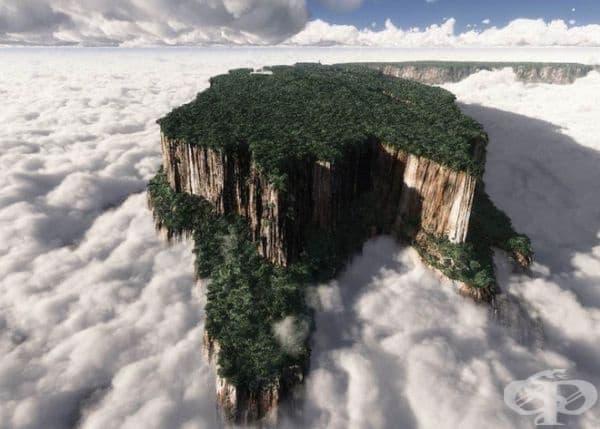 Планината Рорайма, между Венецуела, Бразилия, Гвиана.