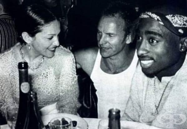 Мадона, Стинг и Тупак Шакур в Лос Анджелис, 1993.