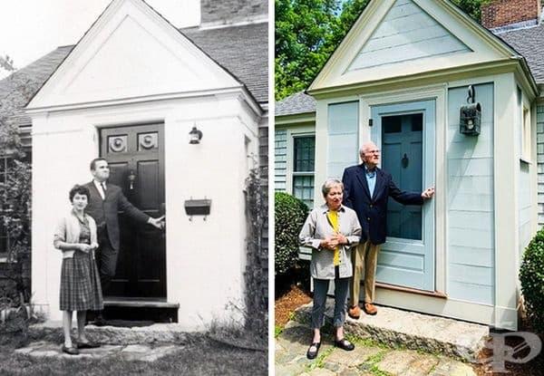 """""""Първата къща на моите родители от 1963 г. и днес."""""""