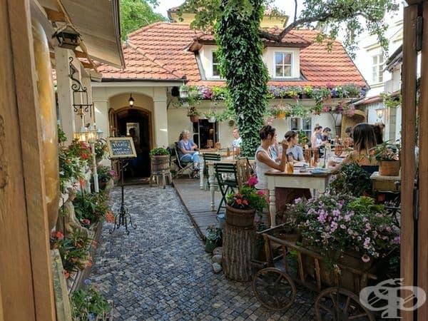 Кафене в Прага.