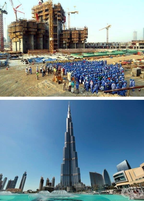 Бурж Халифа, Дубай, ОАЕ. Строителство: 2004-2010 г.