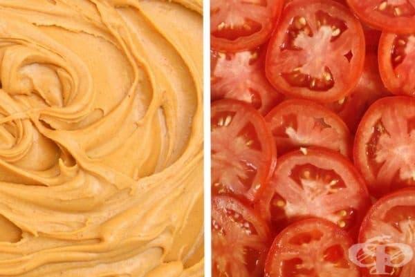Фъстъчено масло и домати. Смело решение, но явно има хора, които го обичат.