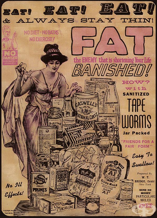 През Викторианската епоха хората измислят радикално решение за намаляване на теглото – тении. Консумират колкото храна искат, но отслабват. Докато днес е известно, че тениите са опасни и дори смъртоносни, тази съмнителна практика е все още жива.