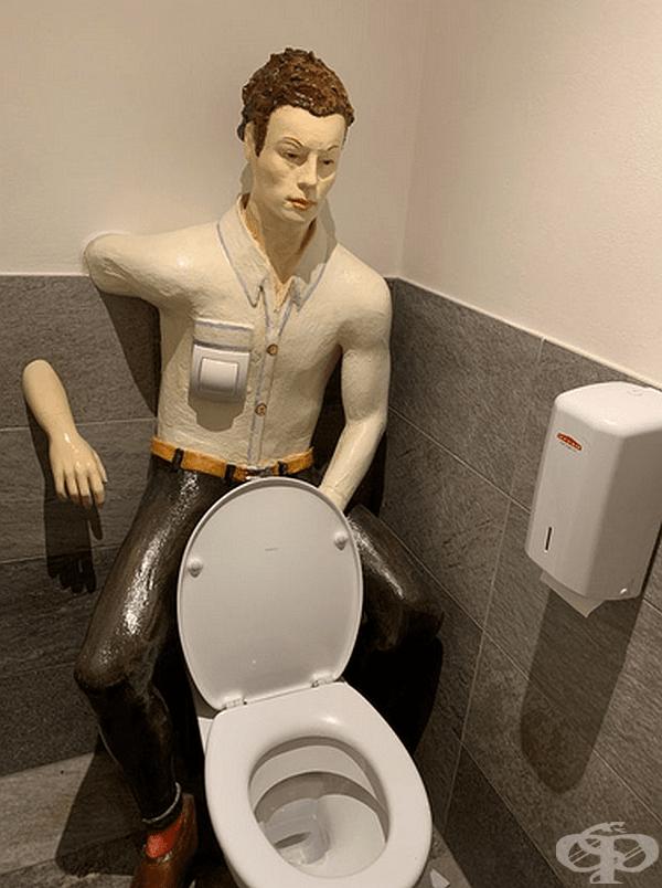 В подобна тоалетна няма да се чувствате уединени.