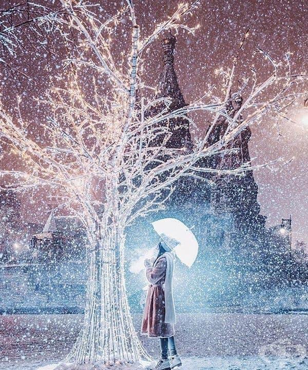 Сняг в Москва.